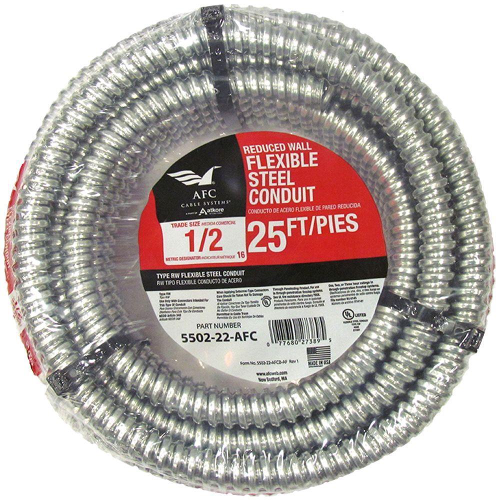 1/2 x 25 ft. Flexible Steel Conduit