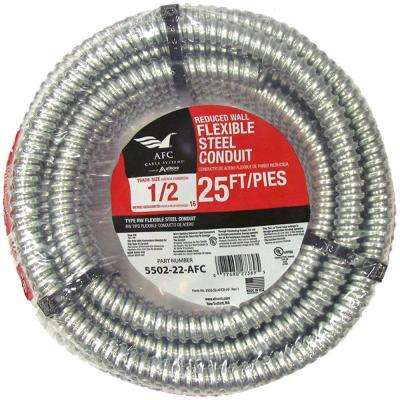 1/2 x 25 ft. Flexible Steel Conduit