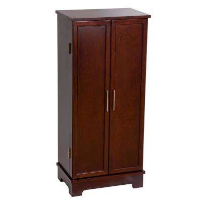 Lynwood Dark Walnut Finish Wooden Jewelry Armoire