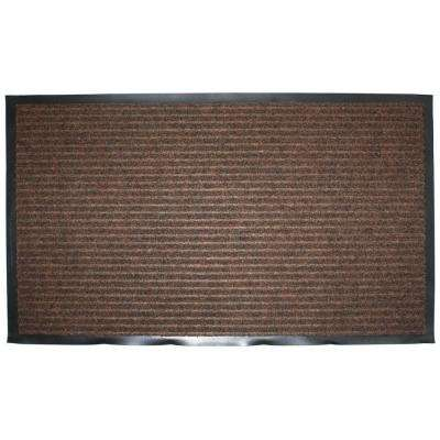 Brown Ribbed 24 in. x 36 in. Utility Mat