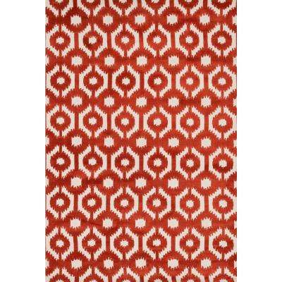 Cassidy Lifestyle Collection Rust 5 ft. x 7 ft. 6 in. Area Rug