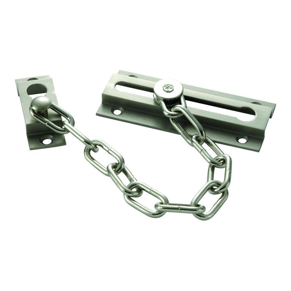 First Watch Security Satin Nickel Chain Door Guard
