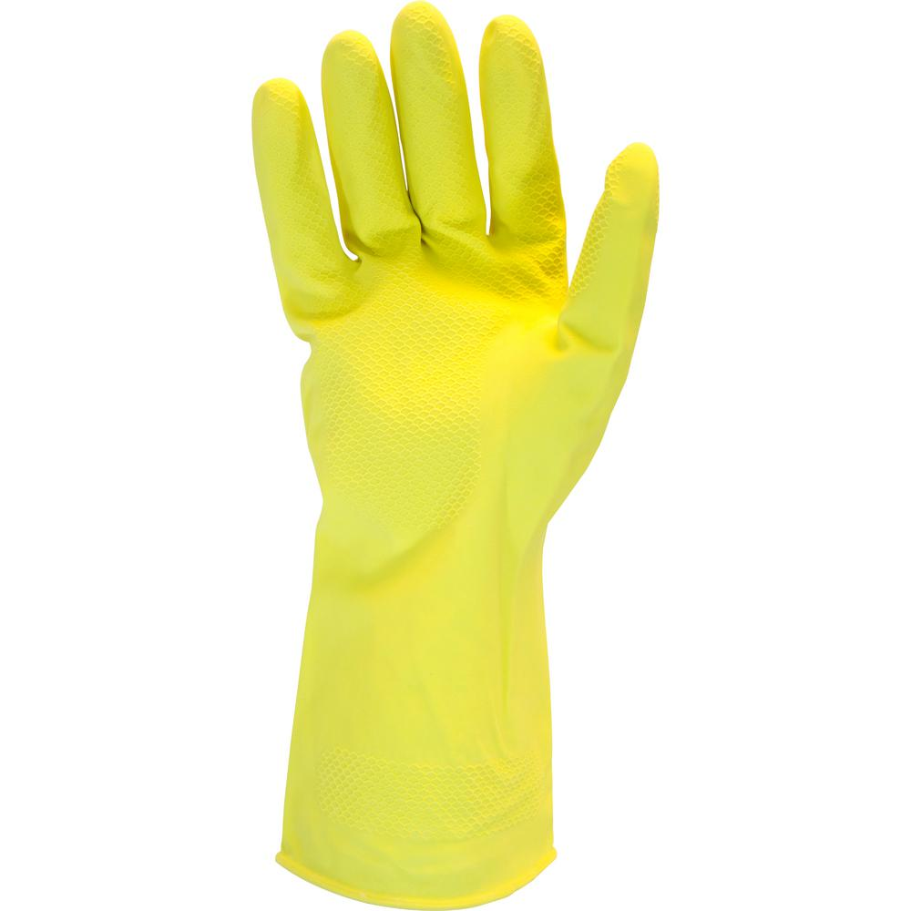 Chemical Gloves Small Heavy-Duty 18 Mil Yellow Latex 10DZ/CS
