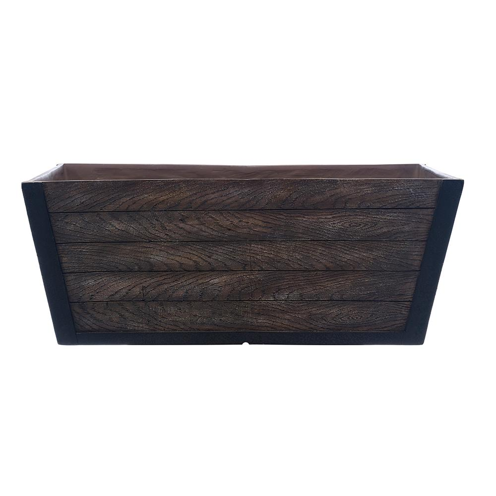 Southern Patio. Farmhill 24 in. W x 9 in. H Resin Deck Box  sc 1 st  Home Depot & Southern Patio Farmhill 24 in. W x 9 in. H Resin Deck Box-HDR-049517 ...