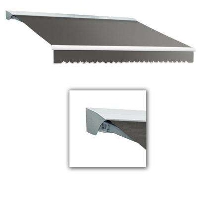 12 ft. DESTIN-LX with Hood Left Motor/Remote Retractable Awning (120 in. Projection) in Gray