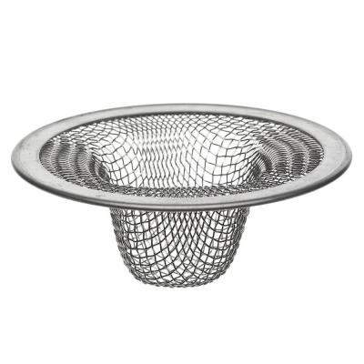 2-1/2 in. Mesh Bathroom Sink Strainer in Stainless Steel