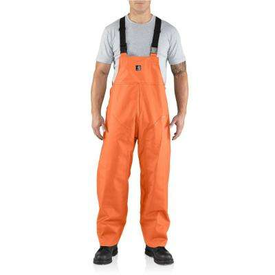 Men'S Medium Tall Orange PVC/Polyester Surrey Bib Overalls