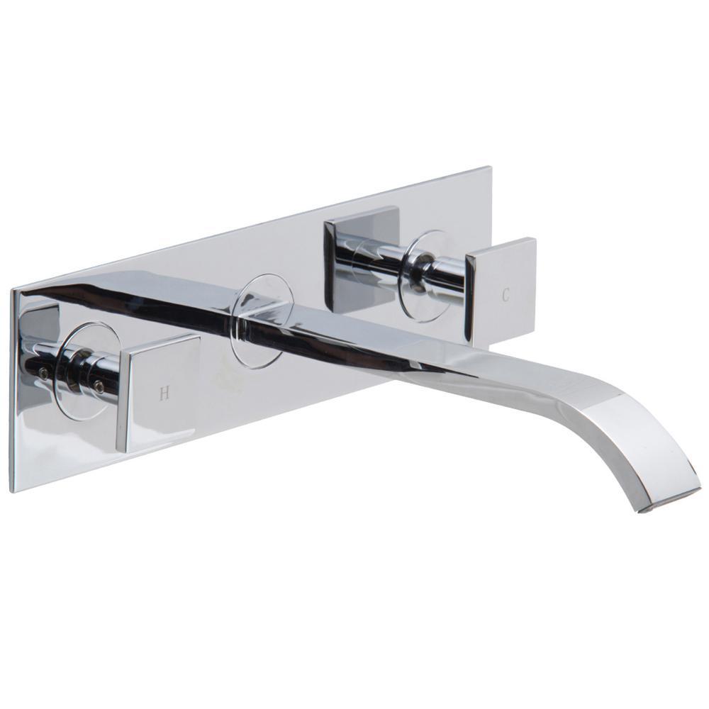 Vigo Bathroom Faucets vigo olus single lever single-handle wall mount bathroom faucet in