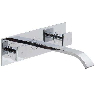 Titus Dual Lever 2-Handle Wall Mount Bathroom Faucet in Chrome