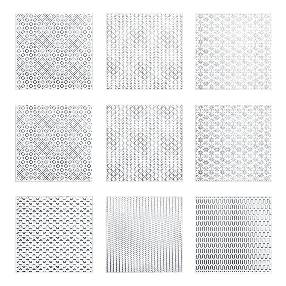 Kantu 2111013 Summer Ceramic Decorative Wall Tile Black 9 Pack