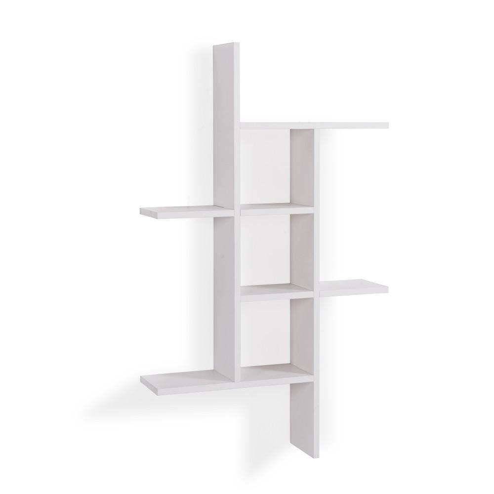 DANYA B Cantilever White MDF Floating Wall Shelf XF160708WH