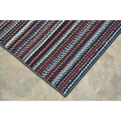 Carnival Stripe Random Multi Color 18 in. x 28 in. 2-Piece Rug Set