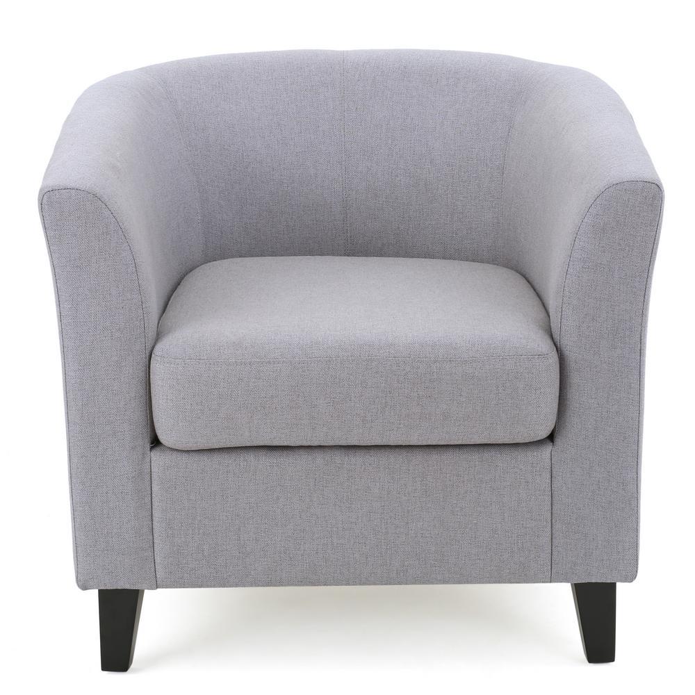 Preston Light Gray Fabric Club Chair