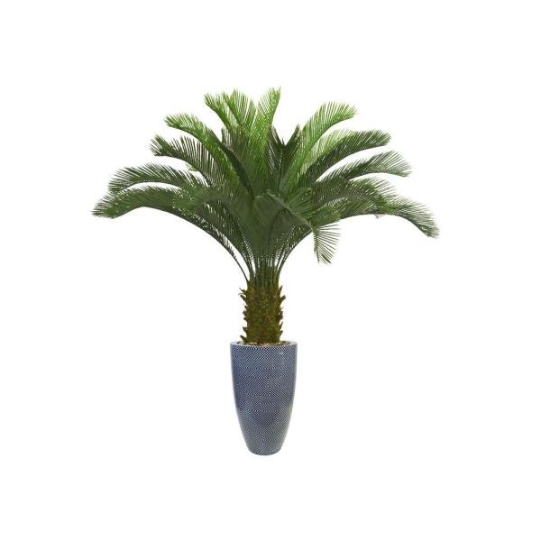 Laura Ashley 69.5 in. Palm Tree Artificial Faux Dcor in Resin Planter