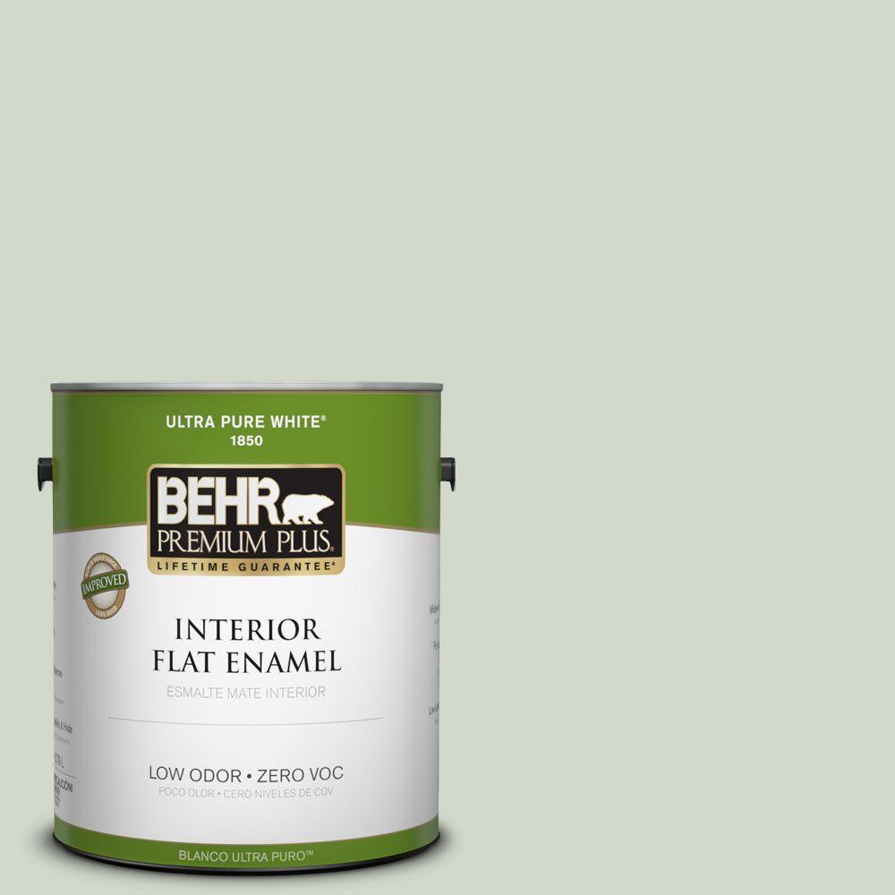 BEHR Premium Plus Home Decorators Collection 1-gal. #HDC-CT-25 Bayberry Frost Zero VOC Flat Enamel Interior Paint-DISCONTINUED