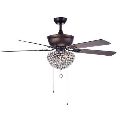 Swarna 52 in. Indoor Bronze Ceiling Fan with Light kit