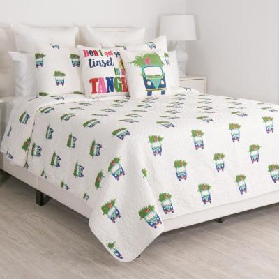 Holiday Car Multi Full and Queen Quilt Set