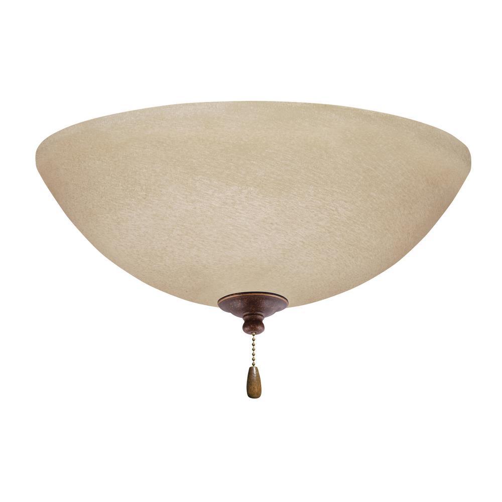 Amber Mist 3-Light Gilded Bronze Ceiling Fan Light Kit