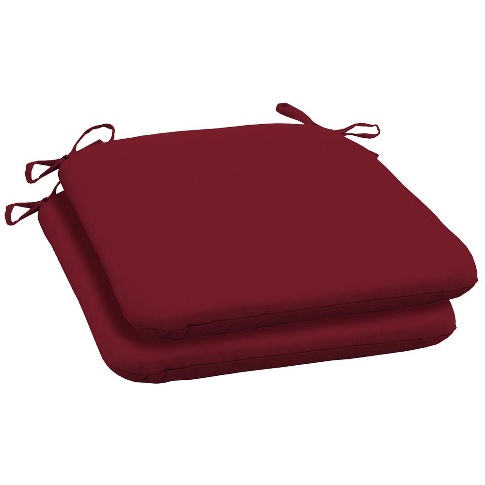 19 X 18 Caliente Canvas Texture Outdoor Seat Cushion 2 Pack