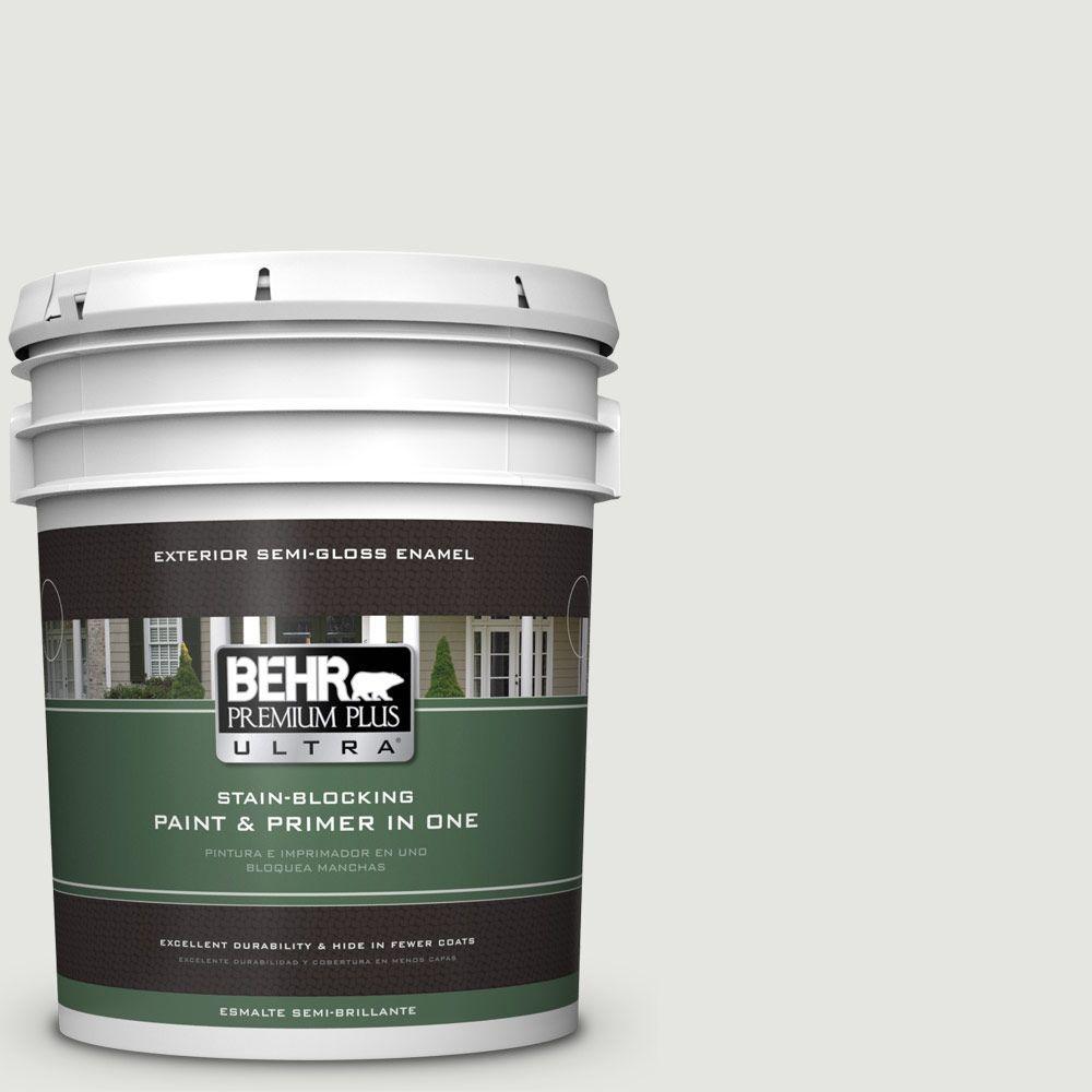 BEHR Premium Plus Ultra 5-gal. #BXC-89 Maritime White Semi-Gloss Enamel Exterior Paint