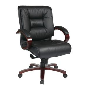 pro-line ii black leather high back executive office chair-8500