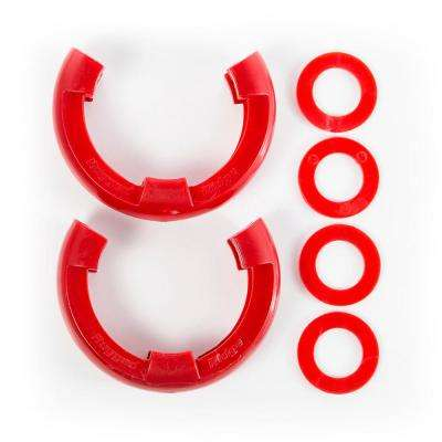 3/4 in. D-Shackle Isolator Kit Pair in Red