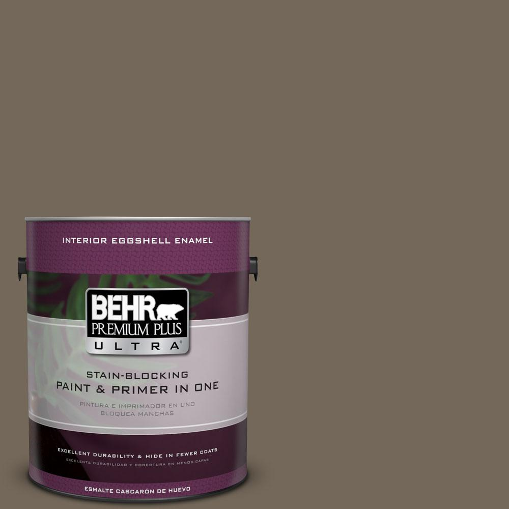 BEHR Premium Plus Ultra 1-gal. #720D-6 Toasted Walnut Eggshell Enamel Interior Paint