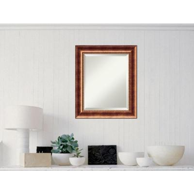 Manhattan Bronze Wood 22 in. W x 26 in. H Traditional Framed Mirror