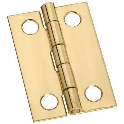 1-1/2 in. Solid Brass Middle Hinge