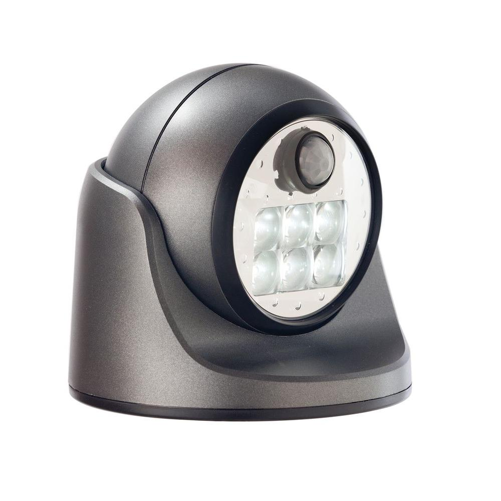 Light It! Charcoal 6-LED Wireless Motion-Activated Weatherproof Porch Light