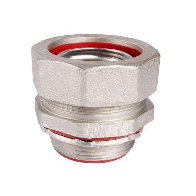 3-1/2 in. Insulated Straight Metal Liquid Tight Connector