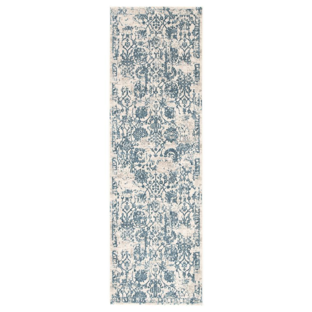 Jaipur Living Cirque Silver 2 ft. 6 in. x 8 ft. Floral Runner Rug