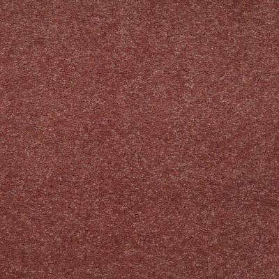 Carpet Sample-Enraptured I - Color Cabernet Texture 8 in x 8 in