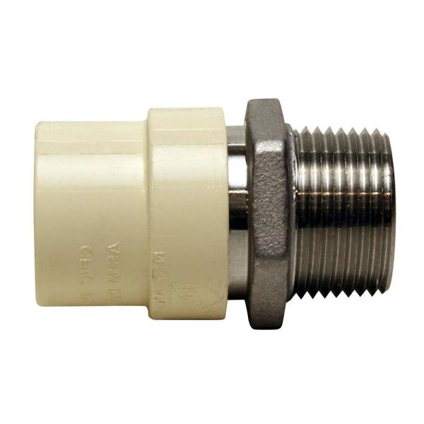 3/4 in. x 3/4 in. CPVC CTS Slip Stainless Steel MPT Adapter