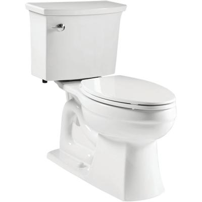 Elmbrook The Complete Solution 2-Piece 1.28 GPF Single Flush Elongated Toilet in White with Quiet-Close Seat Included