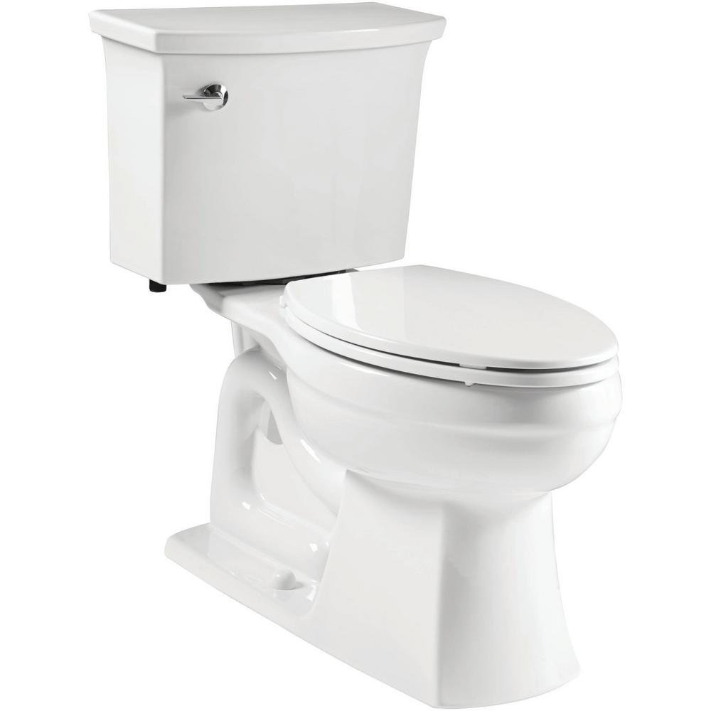 KOHLER Elmbrook Complete Solution 2-Piece 1.28 GPF Single Flush Elongated Toilet in White, Seat Included (3-Pack)