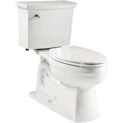 Elmbrook Complete Solution 2-Piece 1.28 GPF Single Flush Elongated Toilet in White, Seat Included (3-Pack)