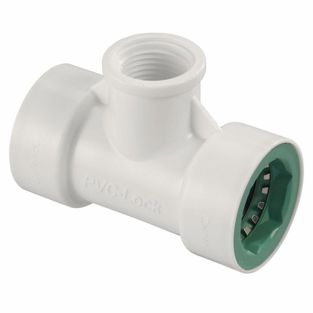 3/4 in. x 1/2 in. FPT PVC-Lock Tee