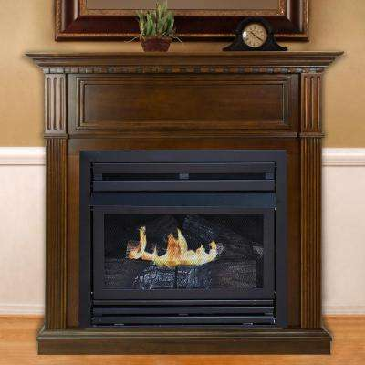 42 in. Intermediate Vent-Free Gas Fireplace in Cherry
