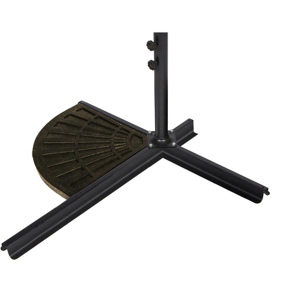 26 lbs. Resin Patio Umbrella Base Weights for Offset Umbrella - Set of 2 - Bronze Finish