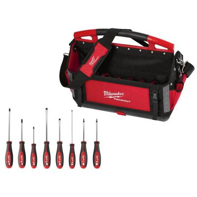 20 in. PACKOUT Tote with Screwdriver Set (8-Piece)