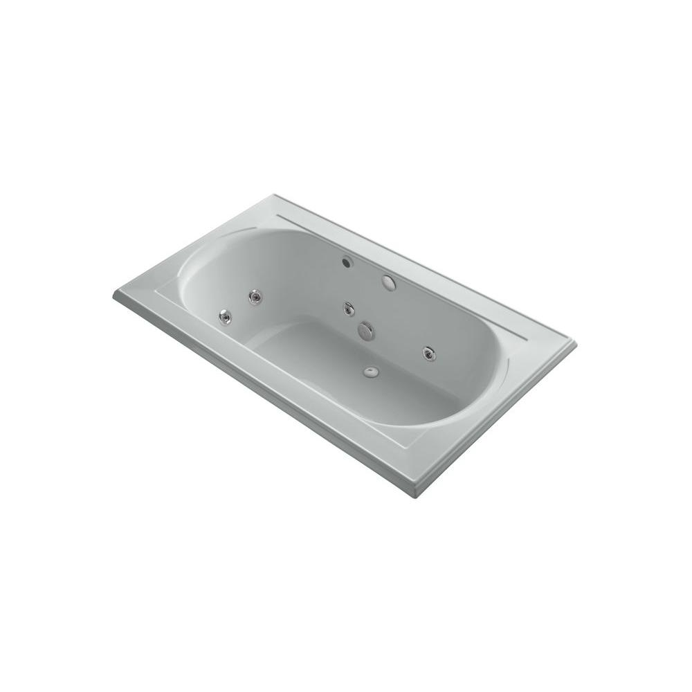 KOHLER Memoirs 6 ft. Whirlpool Tub in Ice Grey-DISCONTINUED