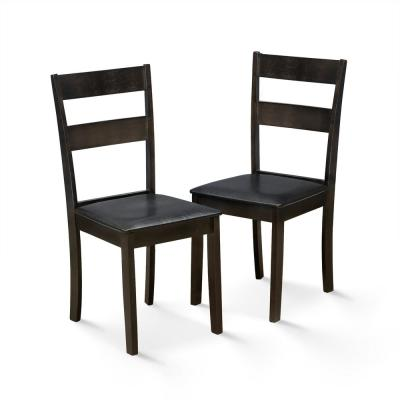 Dallas Cappuccino PU Leather Dining Chair (Set of 2)