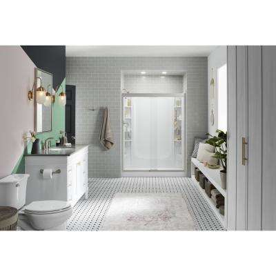 30 In X 60 Single Threshold Left Hand Shower Base With Walls And 12 Piece Accessory Kit White