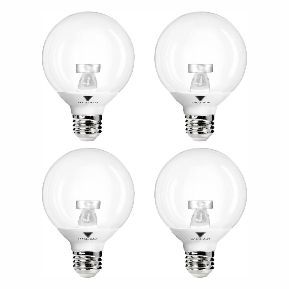 TriGlow 40-Watt Equivalent G25 Vanity Globe Dimmable Warm White LED Light Bulbs (4-Pack)