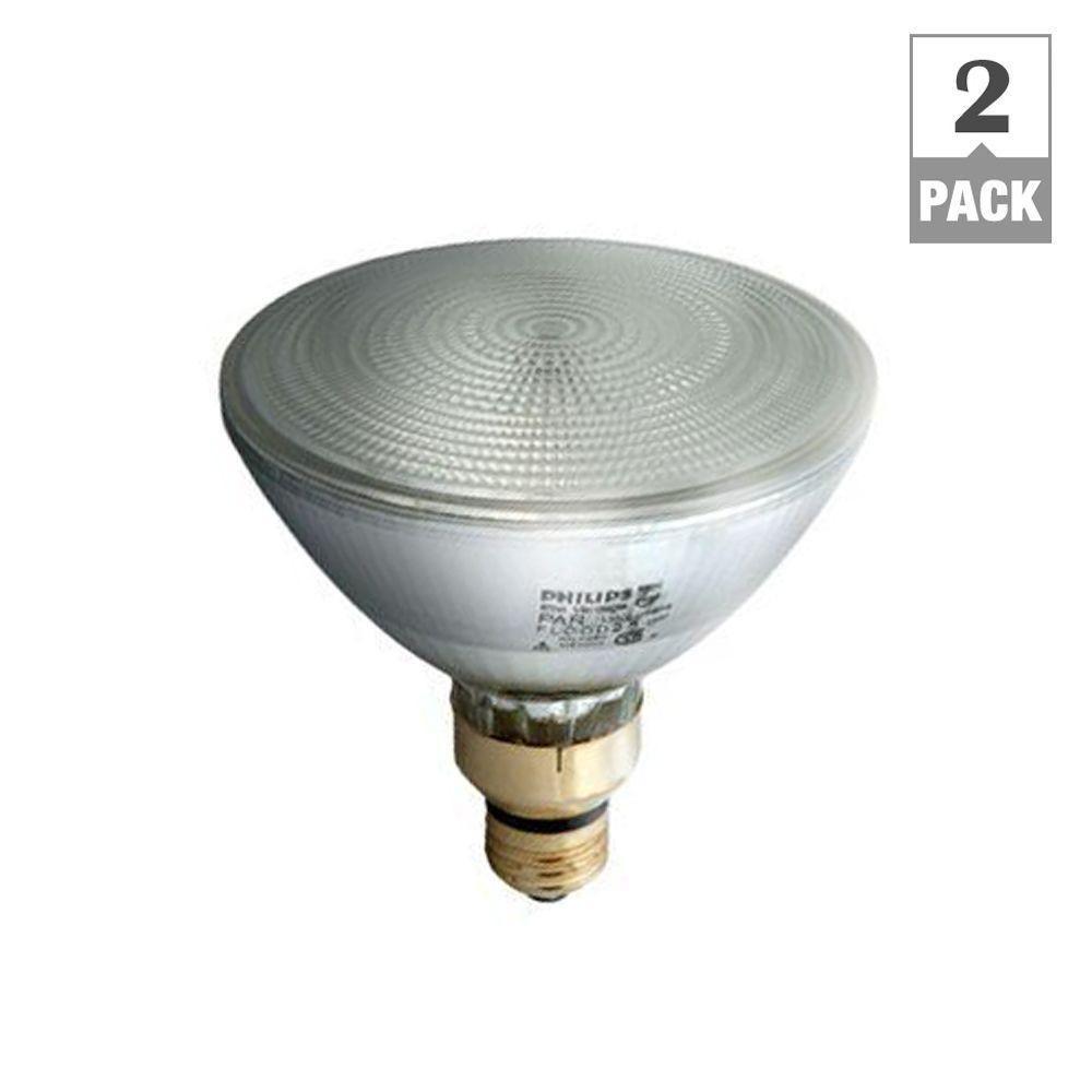 90-Watt Equivalent Halogen PAR38 Dimmable Indoor/Outdoor Flood Light Bulb (2-Pack)