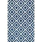 Kellee Contemporary Navy 5 ft. x 8 ft.  Area Rug
