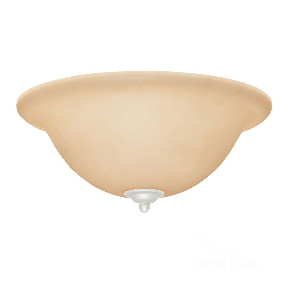 Illumine Zephyr 3-Light Satin White Ceiling Fan Light Kit