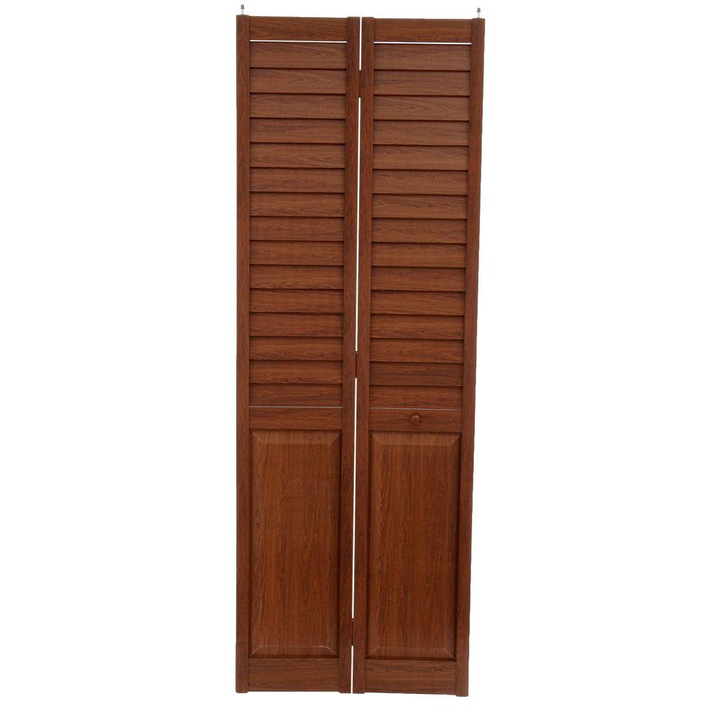 Home Fashion Technologies 28 in. x 80 in. 3 in. Louver/Panel Dark ...