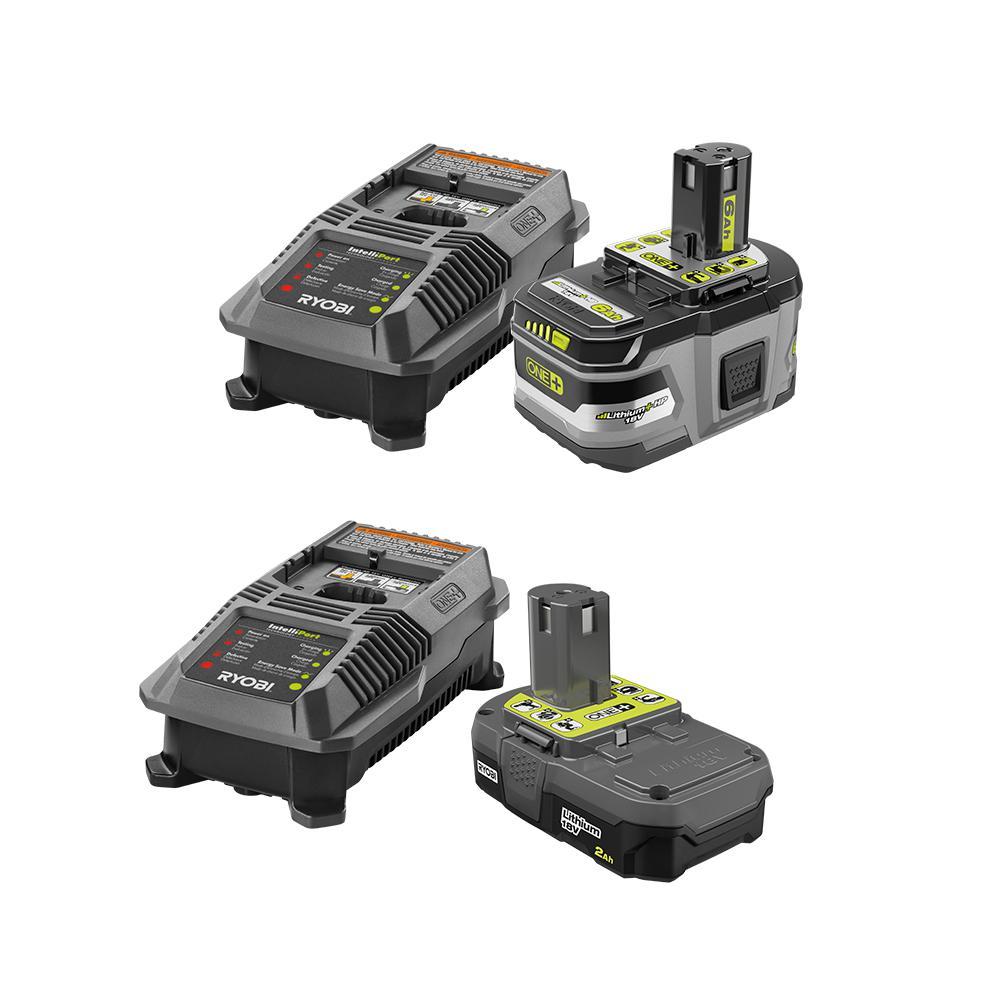 18-Volt ONE+ Lithium-Ion Lithium+ HP 6.0 Ah Starter Kit with (2) ONE+ Lithium-Ion High Capacity LITHIUM+ 4.0 Ah Battery